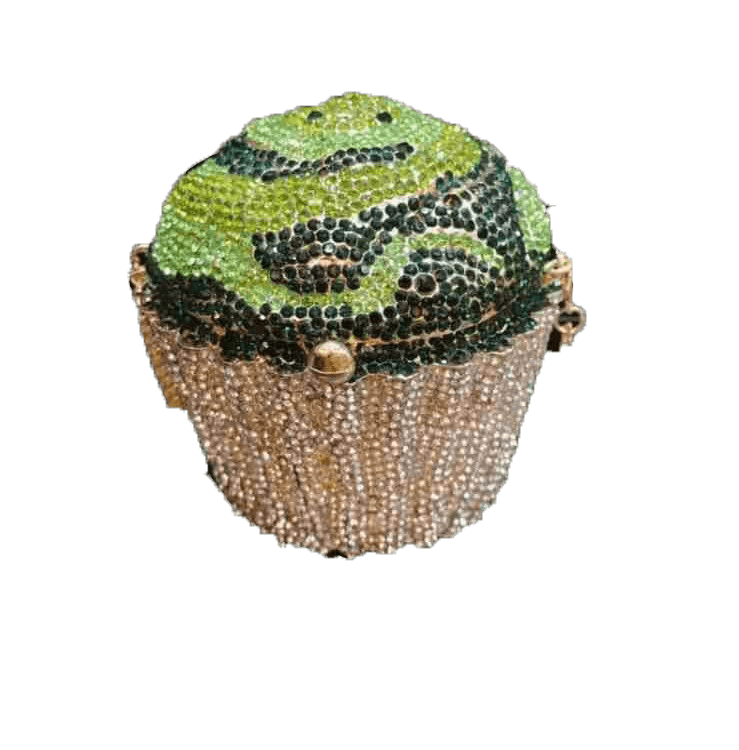 Gold and green cupcake